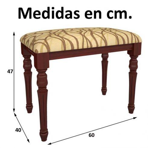 Medidas Banqueta Clásica de 60 cm.