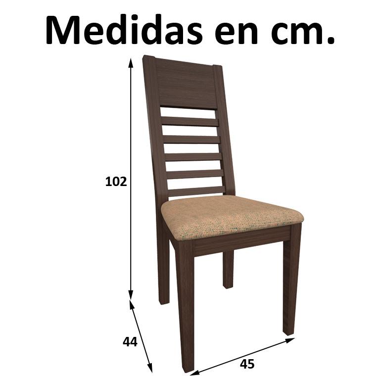 Mesa comedor redonda isabelina 4 sillas c diz - Medidas silla ...