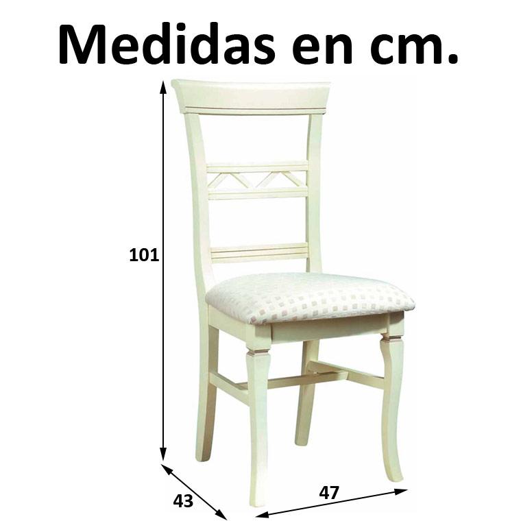 Silla canarias - Medidas silla ...