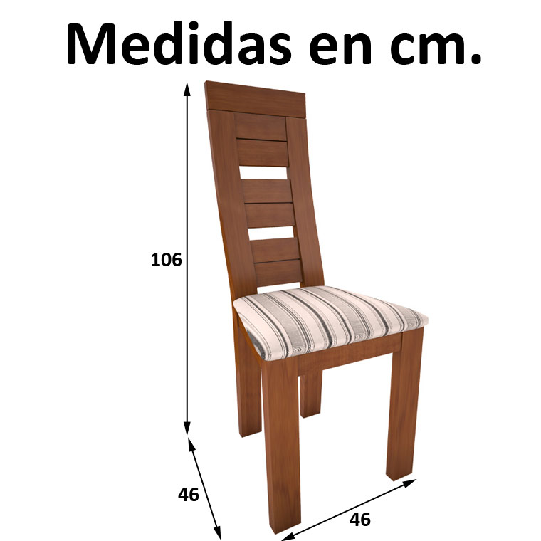 Mesa comedor azahar 4 sillas diva - Mesas de comedor medidas ...