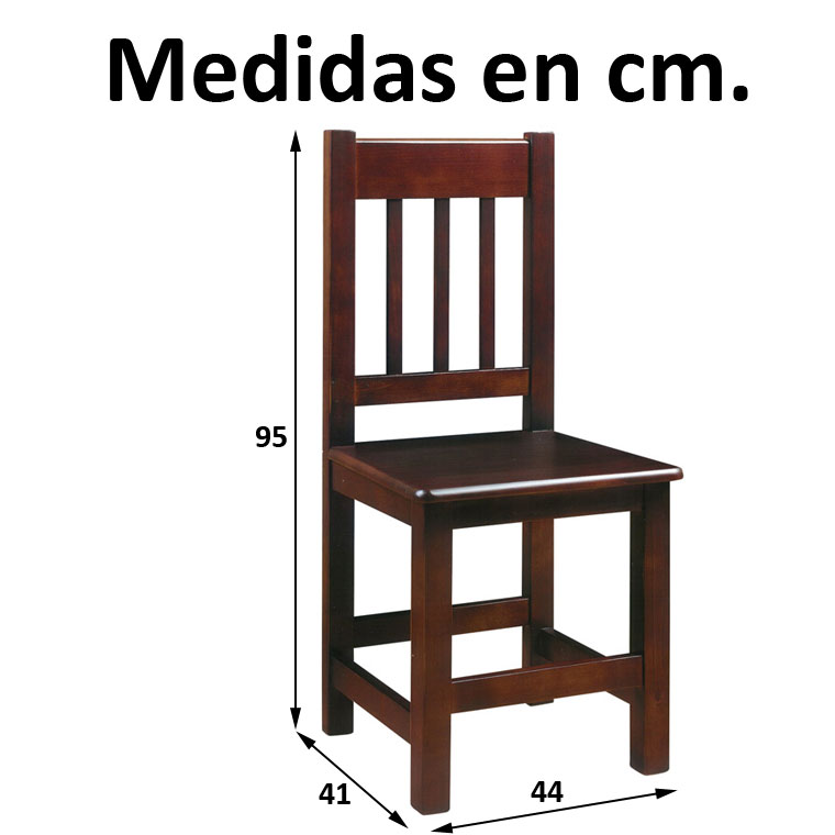 Silla euro for Medidas silla comedor