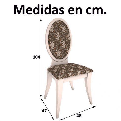 Medidas Silla Lisboa pata forma