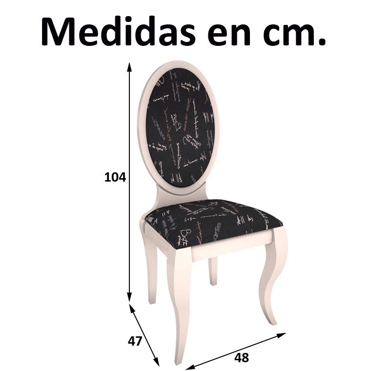 Conjunto de mesa comedor vigo 4 sillas lisboa pata isabelina for Medidas silla comedor