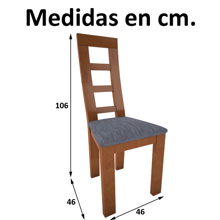 Mesa Comedor Cádiz + 4 Sillas Niza