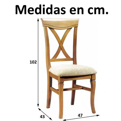 Medidas Silla Valencia