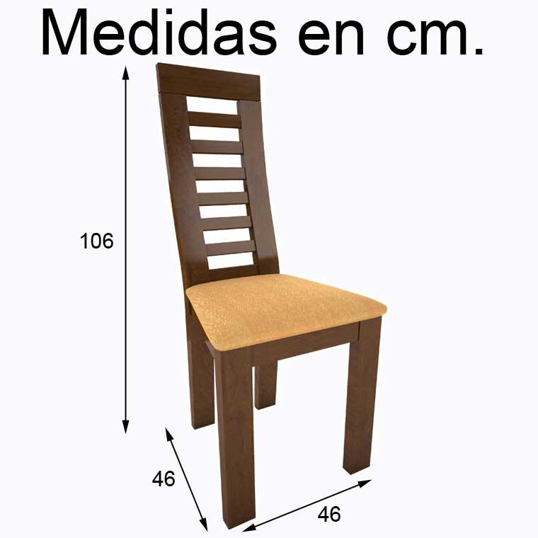 Mesa comedor lucena 4 sillas praga - Medidas de una mesa de comedor ...