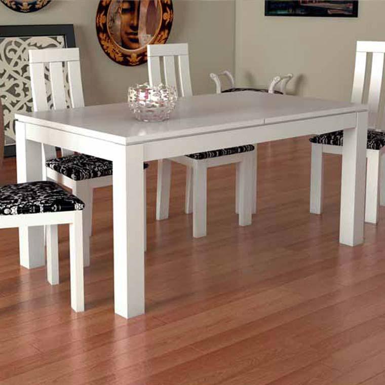 Mesa comedor luc a de patas rectas fija o extensible for Mesas de comedor coloniales