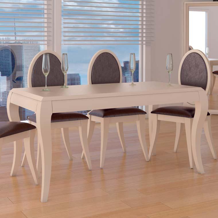 Mesa comedor sof a 4 sillas lisboa pata forma for Mesas de comedor coloniales