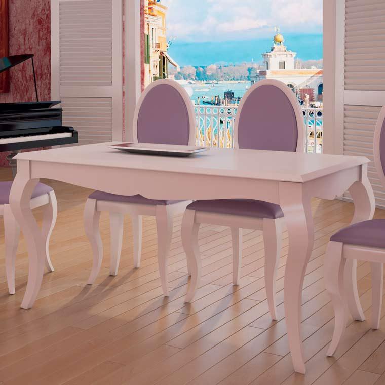 conjunto de mesa comedor vigo 4 sillas lisboa pata isabelina