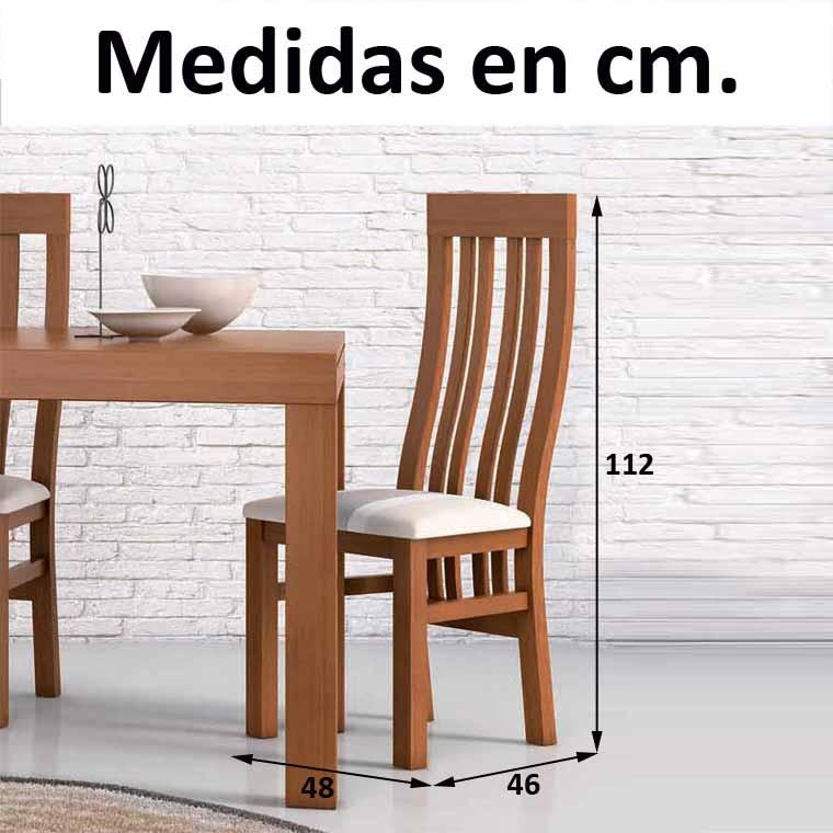 Silla de comedor modelo oporto de madera de pino for Sillas de comedor modernas argentina