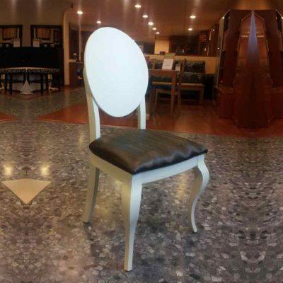 silla ovalo 5 lacada