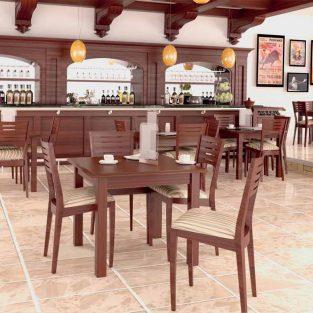 Conjunto de Mesa de Bar + 4 Sillas Lina
