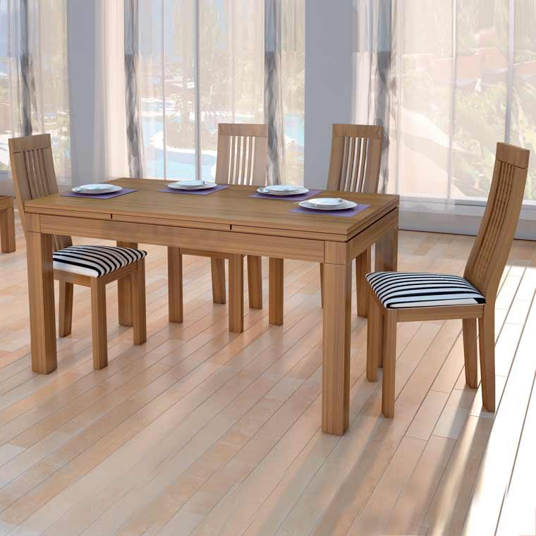 Mesa comedor madrid 4 sillas viena - Conjunto mesa extensible y sillas comedor ...