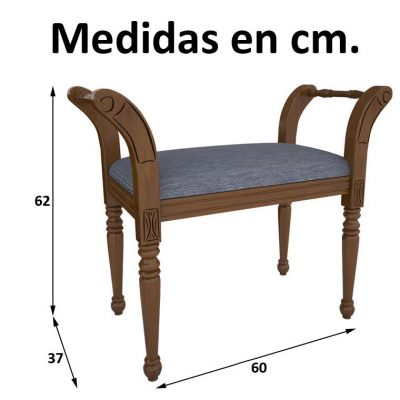 Medidas Banqueta Marquesita de 60 cm.