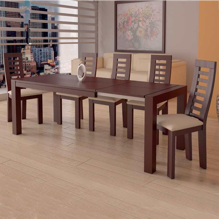 Mesa comedor lucena 4 sillas praga for Sillas de comedor online