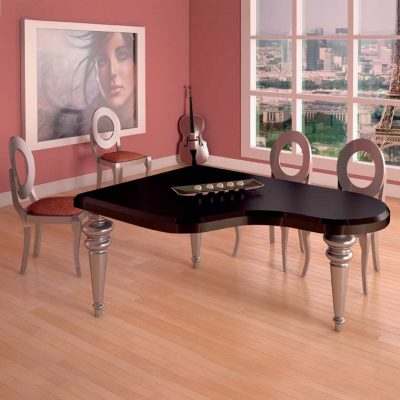 Conjunto de Mesa Salón Piano + 4 Sillas Sfera