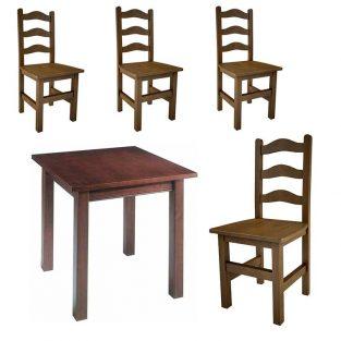 Lotes de Mesas de bar y sillas 3 cerchas