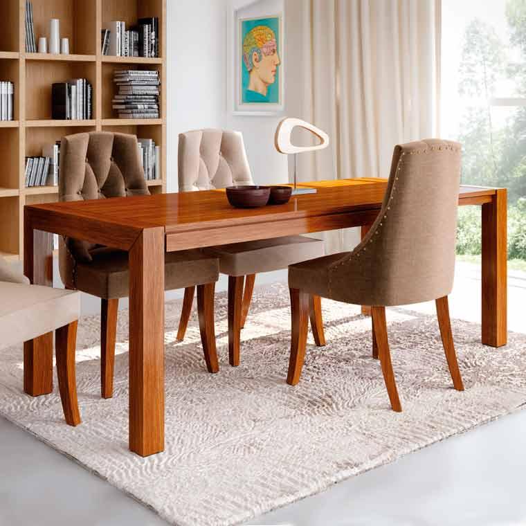 Mesa comedor extensible lucena 4 sillas m naco - Mesas salon extensibles ...