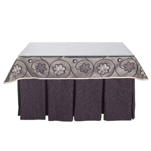 mesa camilla completa enaguas marrón