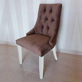 silla-Dubai-capitone-lacado blanco