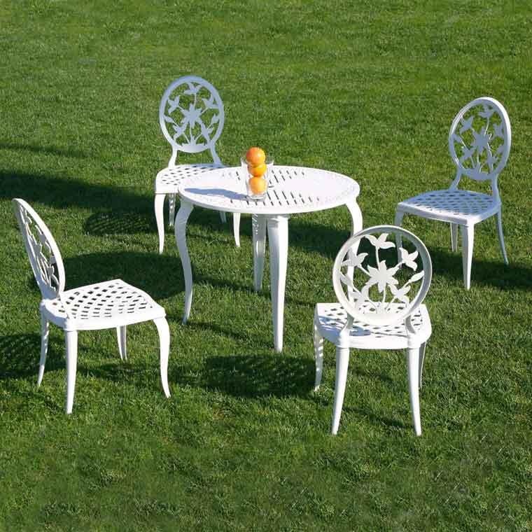 Mesa de jard n kenia redonda sillas de jard n versalles - Mesas y sillas de jardin ...