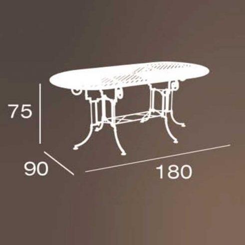 medidas mesa teide marbella 180