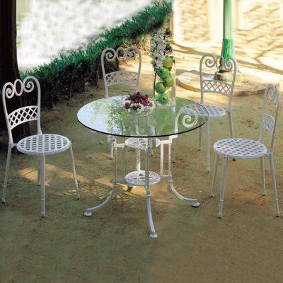 mesa de jardin teide y sillas de jardin sena