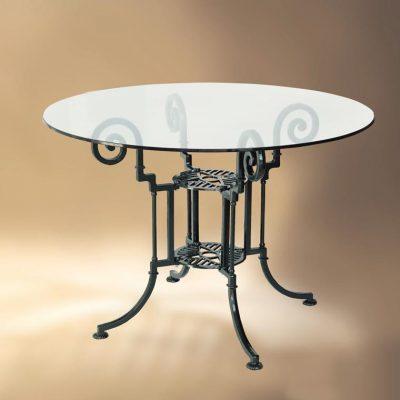 mesa teide con tapa de cristal