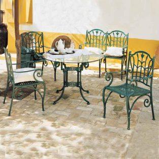 mesa teide cristal y sillones bahia