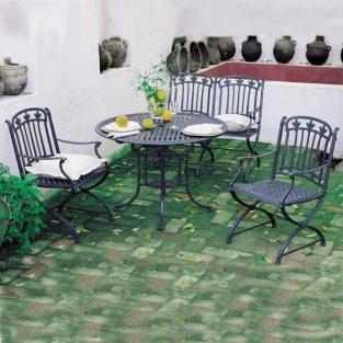 mesa de jardín teide marbella con sillones málaga
