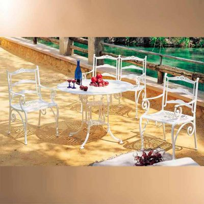 mesa teide marbella y sillones rocio