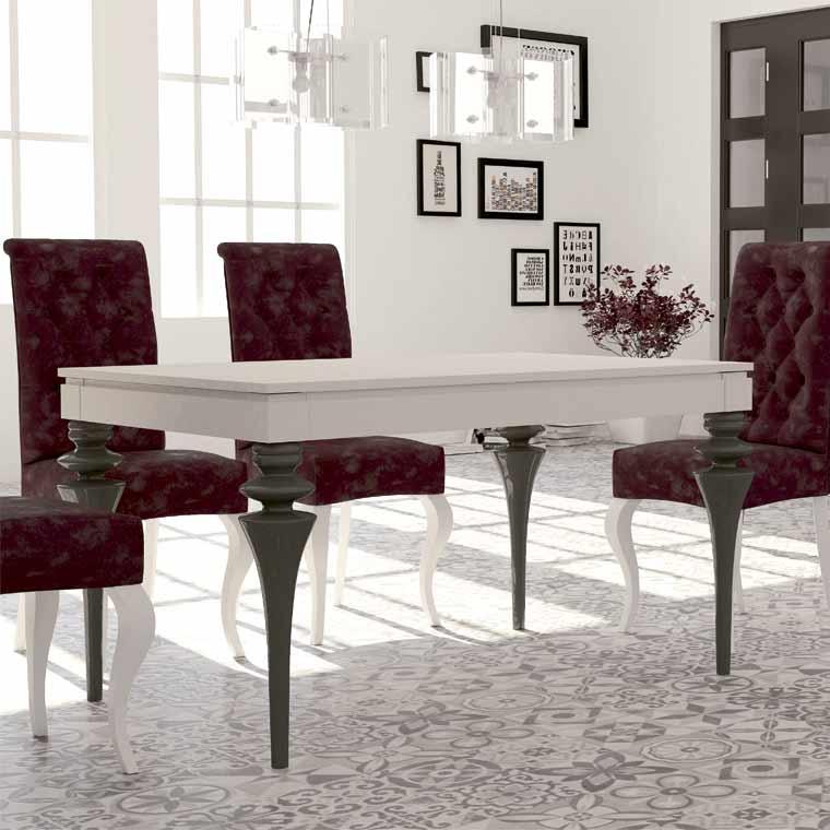 Mesa comedor venecia patas torneadas venta en sillasonline - Patas torneadas de madera ...