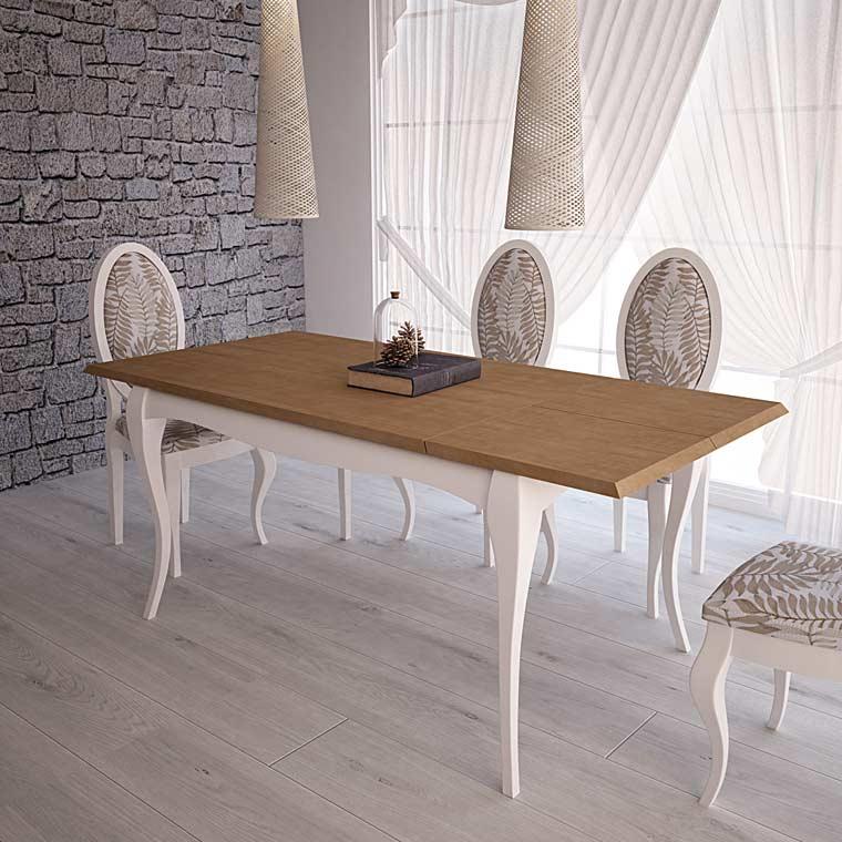 Mesa de Comedor Isabelina Versalles Extensible - Oferta