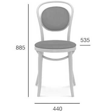 Medidas silla madera de haya 10. Para hostelería