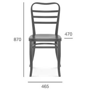 Medidas silla madera de haya 1406. Para hostelería