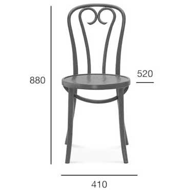Medidas silla madera de haya 16. Para hostelería