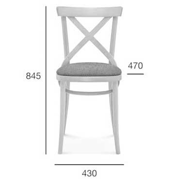 Medidas Silla madera de haya 8810/1. Para hostelería