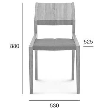 Medidas Silla madera de haya o roble Arcos. Para hostelería