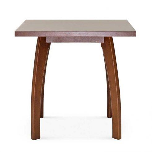 Mesa cuadrada en madera de haya Bow, para hostelería