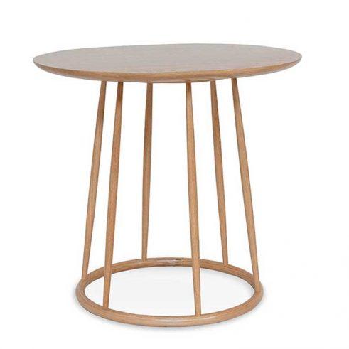Mesa ovalada en madera de haya o roble Candy. Para hostelería