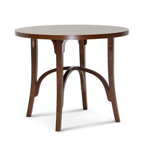 Mesa redonda en madera de haya 0258. Para hostelería