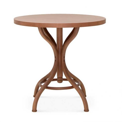 Mesa redonda en madera de haya 9718. Para hostelería