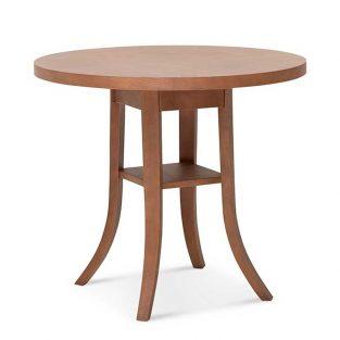 Mesa redonda en madera de haya 9744. Para hostelería