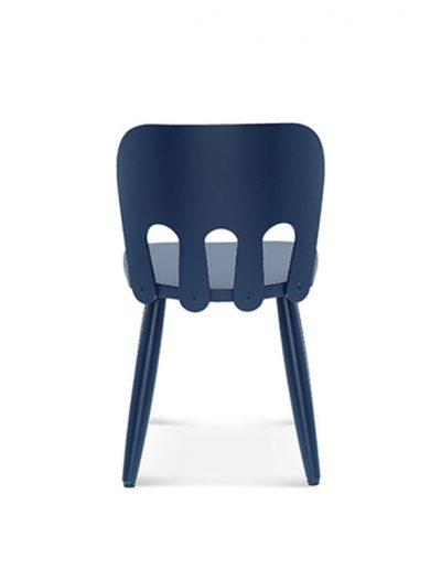 Silla de haya Nino para niños. Azul. Espalda
