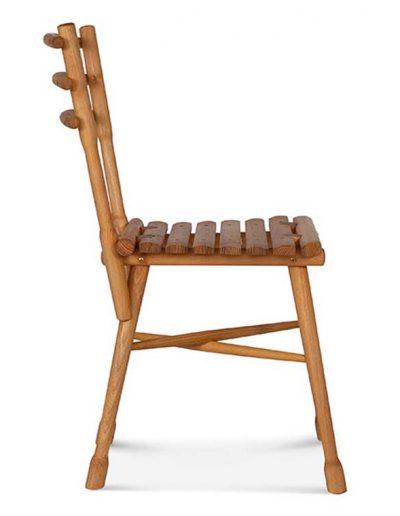 Silla madera de acacia Garten.4, Perfil. para hostelería