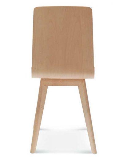 Silla madera de haya o roble Cleo 1, Espalda, para hostelería