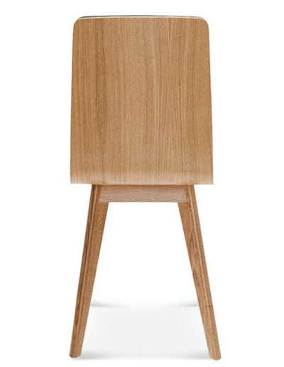 Silla madera de haya o roble Cleo 4, Espalda, para hostelería