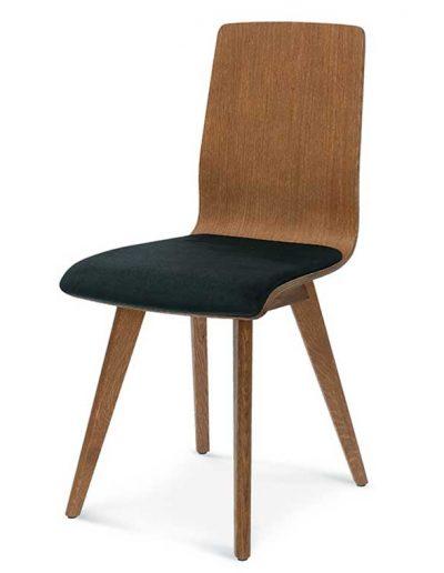 Silla madera de haya o roble Cleo 5. Para hostelería