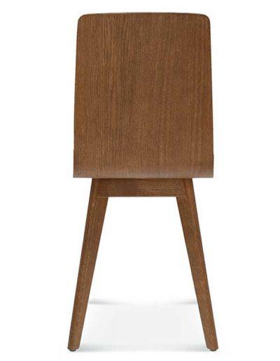 Silla madera de haya o roble Cleo 5, Espalda, para hostelería
