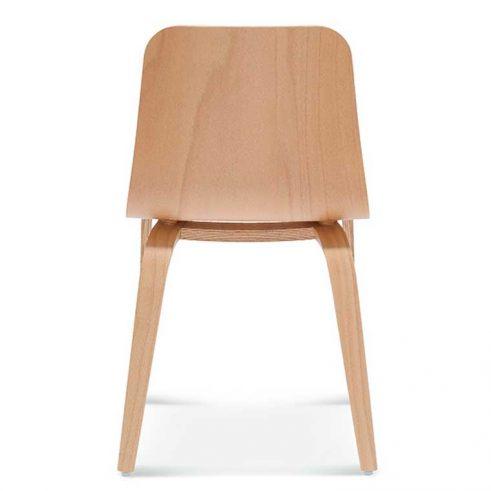 Silla madera de haya o roble Hips 1, Espalda, para hostelería